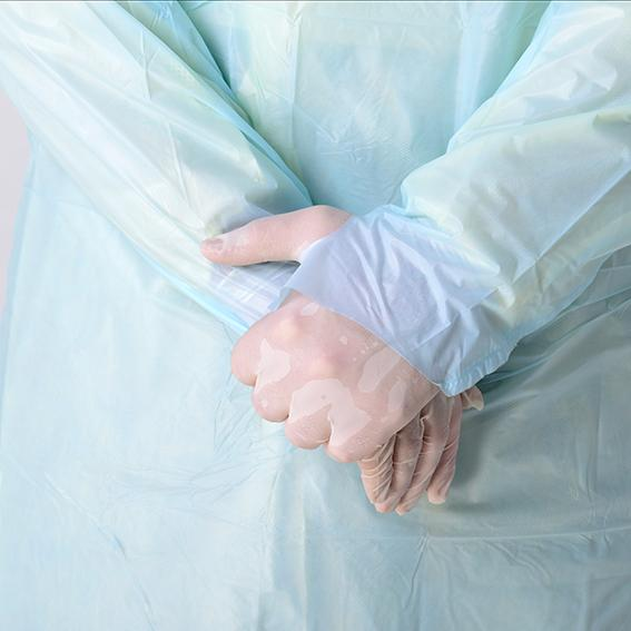 Simple Disposable Protective Gowns Long Sleeve Anti-blood Isolation Gowns With Thumbhole