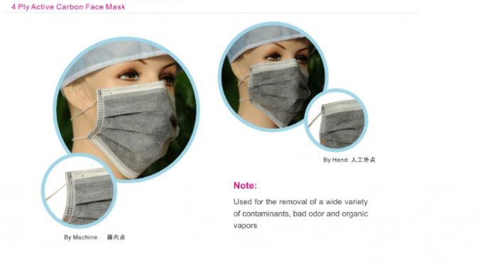 Single Use PM 2.5 Face Mask To Avoid Pollution , Cycling Pollution Protection Mask