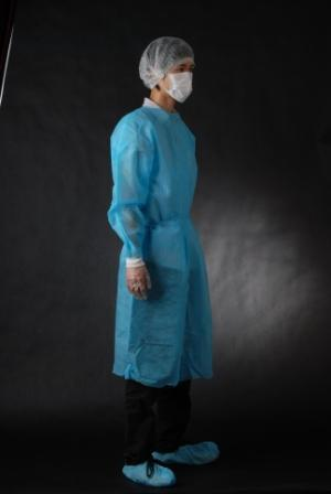 Safety Disposable Surgical Gowns / Medical Isolation Gowns Free Sample 35/40/45Gsm