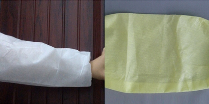 PP Coated PE Disposable Protective Sleeves Plastic Arm Sleeves With Elastic