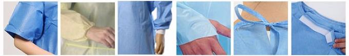Disposable nonwoven protective isolation gown with short sleeve