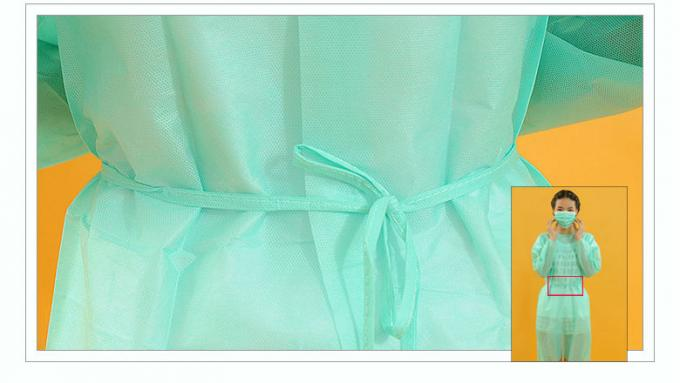 Cheap OEM Manufacturer Disposable Yellow Isolation Gowns