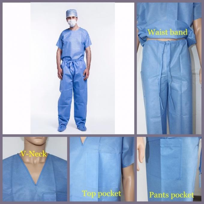 Colorful Disposable Operating Scrubs Now-woven For Laboratory Anti - Bacteria With CE
