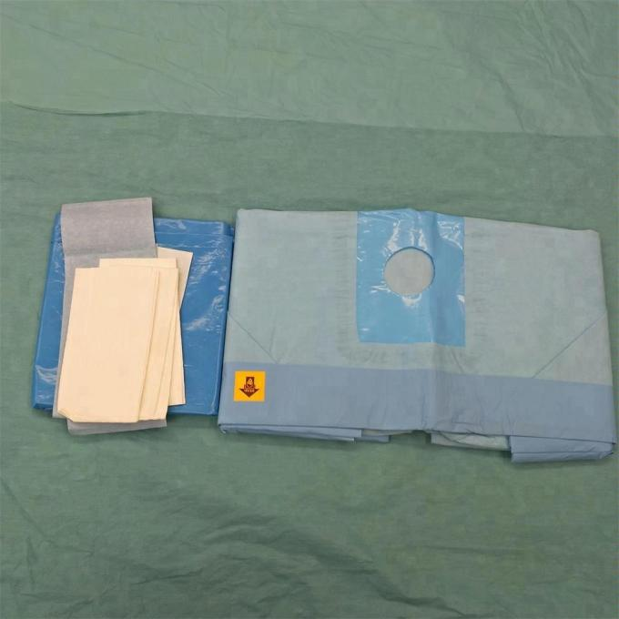 PE Film Sterile Extremity Laparotomy Medical Procedure Packs With Adhesive Drape