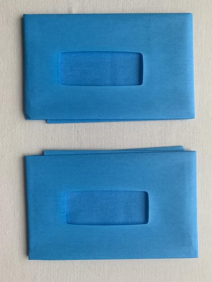 EO Dispoable Surgical Drapes 55g Impregnated Cloth And PE Film With Square Hole