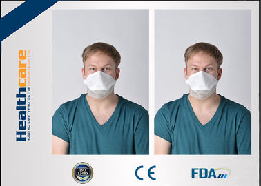 China 3 Ply N95 Disposable Face Mask / Disposable Particulate Respirator Clam Shape supplier
