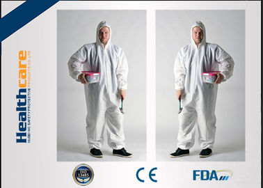 China Dust Proof Disposable Protective Gowns Work Clothes For Hospital / Chemicals / Industry supplier