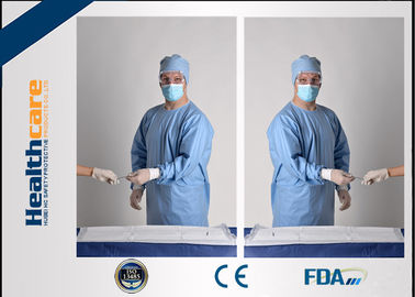 China SBPP Medical Disposable Protective Gowns Ultrasonic Disposable Sterile Gowns CE / ISO supplier