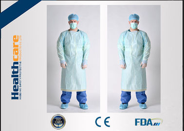 China Simple Disposable Protective Gowns Long Sleeve Anti-blood Isolation Gowns With Thumbhole supplier
