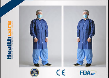 Breathable Disposable Protective Gowns For Hospital / Chemical / Beauty Industry