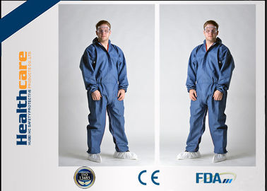 China Breathable Disposable Coveralls Protective Suit With Hood And Boot Cover Acid Resistant supplier
