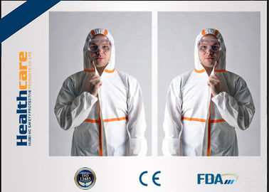 China Lightweight Disposable Protective Coveralls Custom Size With Hood For Painters supplier