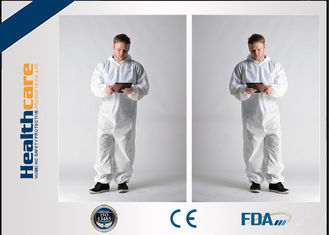 China Waterproof Insulated Disposable Protective Coveralls , Full Body Cleaning Suit CE FDA supplier