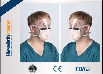 China 3 Ply / 4 Ply Non Imitating Disposable Earloop Face Mask With Face Shield EO Sterilized supplier