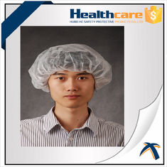 China OEM Clip Disposable Head Cap Dustproof , Surgical Operating Room Scrub Hats  supplier