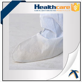 China Medical Disposable Shoe Covers Nonwoven Boot Cover For Ebola With Tie Or Elastic supplier