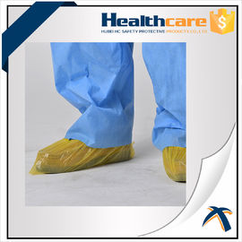 China Blue Color Disposable Shoe Covers CPE Round Or Flat Elastic Size With CE ISO FDA supplier