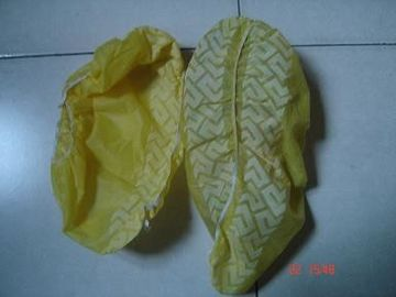 China CE ISO Yellow / Blue Shoe Covers Disposable Anti Skid Lightweight One Time Use supplier