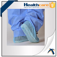 China Non Skid Disposable Shoe Covers / Medical Booties Shoe Covers Breathable 35gsm supplier