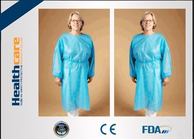 China Safety Disposable Surgical Gowns / Medical Isolation Gowns Free Sample 35/40/45Gsm supplier