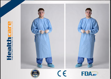 China Lightweight Disposable Surgical Gowns With Knitted Cuff Blood Resistence 130x150 Sterile Coat supplier