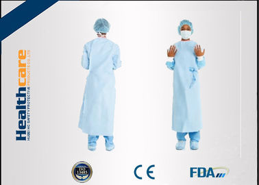 China Dark Green Disposable Surgical Gown Non Woven  Lab Gowns Lightweight Blood Proof supplier