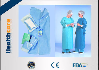 China SMMMS / SMMS Disposable Surgical Gowns Medical Scrubs Acid Proof Free Samples supplier