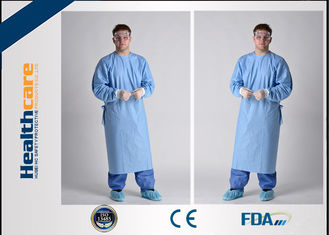 China Breathable Sterile Disposable Hospital Gowns 4 Ties Adjustable Neck Free Sample supplier