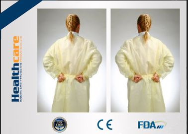 China Non - Irritating Disposable Isolation Gowns Non-woven 16-70G Patient Exam Gowns  supplier