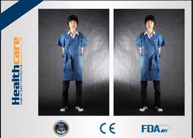 China Durable Eco Friendly Disposable Isolation Gown Waist Tie 20-70G Patient Gown  supplier