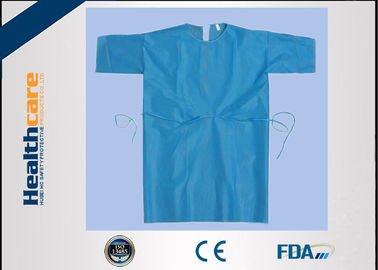 China Free Sample Disposable Isolation Gowns Lightweight Non Woven Gown With Elastic Cuff supplier