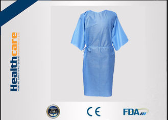 China Multifunction 16-80G Disposable Isolation Gowns Ultrasonic Heat Seal Blue/Yellow Coats supplier