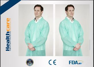 China Dustproof PP Colored Disposable Scrubs And Lab Coats With Hook Loop Closure supplier