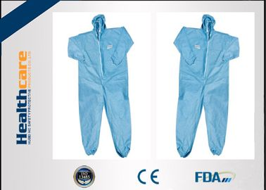 China Unisex Disposable Plastic Body Suit Protective Clothing Fluid Resistant S-3XL supplier