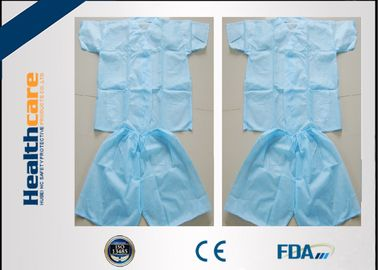 China Disposable Scrub Suits Nonwoven For Spa , Disposable Medical Protective Clothing  supplier