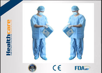 China Unisex SMMS Disposable Scrub Suits V-neck Shirt And Pants For Doctor EO Sterilized supplier