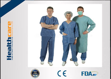 China Nonwoven Disposable Scrub Suits for Patient Doctors Nuser With Short Sleeve supplier