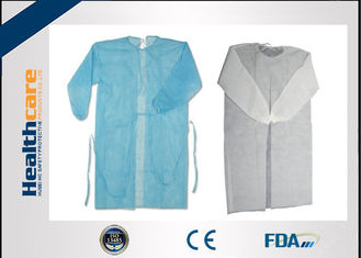 China Nonwoven Disposable Dressing Gowns Hospital Scrubs With Elastic Cuff Anti Blood supplier
