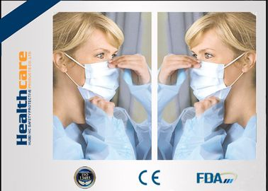 China Disposable Sterile Surgical Masks , Face Mask Medical Use For Mouth Protection supplier