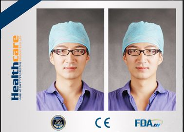 China Medical Blue Disposable Head Cap Nonwoven Doctor Cap With Elastic Back And Floral supplier