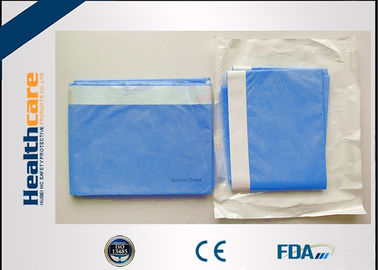 China Soft Blue Spunlance Disposable Surgical Drapes Side With Tape 150X195 Cm supplier