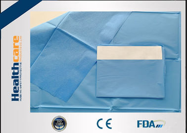 China SMS Single Plain Disposable Surgical Drapes , Comfortable Medical Drapes supplier