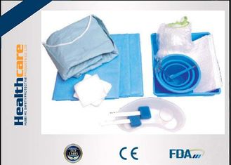 China Durable SMS Disposable Surgical Packs Sterile Cath Lab Kit In Blue Color supplier