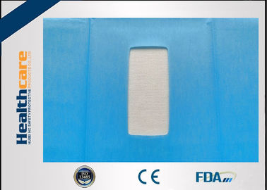 China EO Dispoable Surgical Drapes 55g Impregnated Cloth And PE Film With Square Hole supplier
