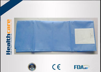China Blue SMS Disposable Surgical Drapes Sterile Latex Free With Collection Pouch And Hole supplier
