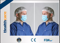 Blue Disposable Face Mask With Earloop Comfortable 4 Ply 2 Ply 3 Ply Light Weight