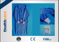 China SMS Sterile Disposable Surgical Gowns , Disposable Theatre Gowns Anti - Blood S-3XL factory