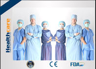 SMS Disposable Surgical Scrubs , Disposable Medical Workwear Short Sleeves