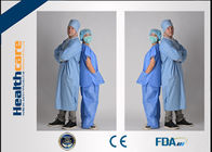 Medical Uniform Disposable Scrub Suits V Or Round Neck Style Oil - Resistant