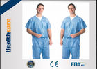SPP Blue Color Disposable Medical Scrubs Operating Room Clothing S-4XL